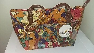 Sakroots ochre flower medium satchel bag handbag BNWT