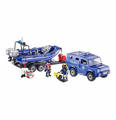 Playmobil - City Action - 9396 - Bundespolizei Truck mit Schnellboot - NEU OVP