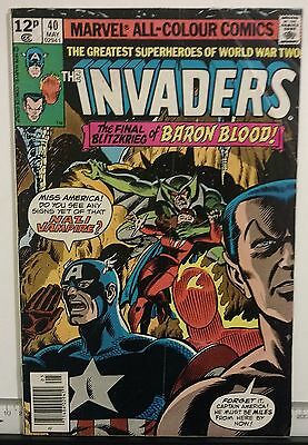 The Invaders Issue 40 (Marvel/1975/Pence Copy)