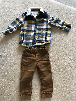Boys Jeans & Lumberjack Shirt Outfit From Marks And Spencer 18-24months