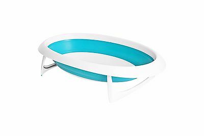 Boon Collapsible Baby Bath - Blue and White