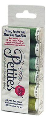 Sulky Sampler 12 Wt. Cotton Petites-Six Pack-Greens Assortment