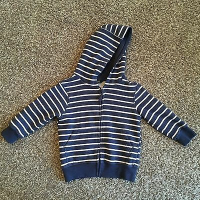 Boys George, blue striped hoodie 18-24 months