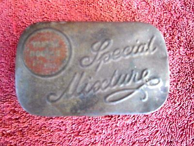 Vintage  Embossed  Special  Mixture  Tobacco  Tin  With  Faded  Red  Spot
