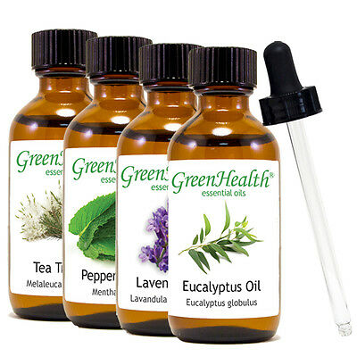 2 oz Essential Oil with Glass Dropper, Free Shipping, 50+ Oils to Choose from