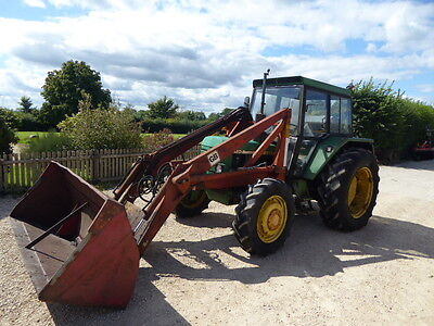 John Deere 2130 4Wd Loader Tractor With Bucket Runs And Drives Well