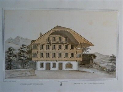 GRAFFENRIED Architecture Suisse ALPES BERNE CHALETS BOIS 33 LITHOGRAPHIES 1844