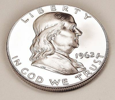 1962   Franklin   Proof   90%   Silver  >Coin  as  Pictured<    #812   20