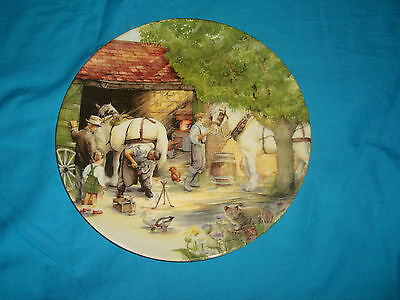 Royal Doulton - Old Country Crafts - The Blacksmith - Collector Plate