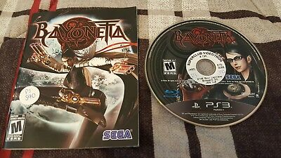 Bayonetta (Sony PlayStation 3, 2010) *DISC AND MANUAL ONLY. NO COVER ART*