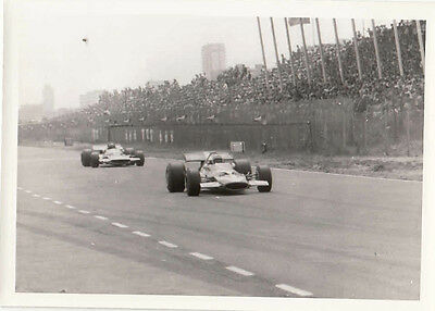Single Seater Cars Racing Passing Crowds In Stands, Photograph