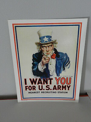 Vintage Advertising Poster- U.s. Army I Want You Poster-1983- Vintage Military