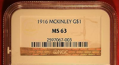 1916 McKinley Commemorative Gold Dollar Certified NGC MS63