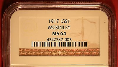 1917 McKinley Commemorative Gold Dollar Certified NGC MS64