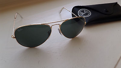 39aecbf36ad Ray-Ban Aviator RB3025 W3234 Vintage Pilot Sunglasses Gold Plated w  Case  55014