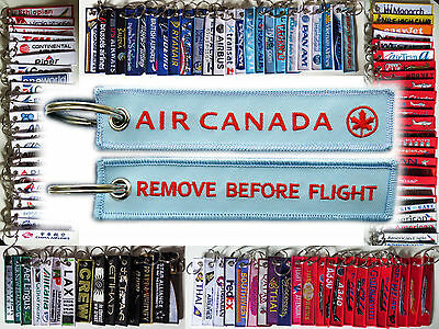 Keyring AIR CANADA Remove Before Flight keychain for pilot