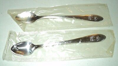 Vintage Oneida Ltd. Mother Goose Baby Spoon Brand New In Package Lot of 2