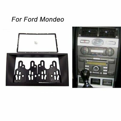 2 Din Radio stereo fascia Frame Panel Plate For Ford Focus Mondeo 2000-2007