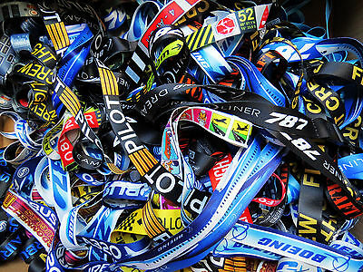 HUGE Selection of AVIATION LANYARDS: Boeing Airbus Embraer Flight Crew Pilot etc
