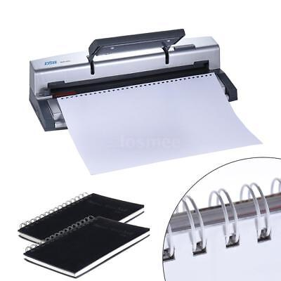 34/32 Holes 45 Sheets Comb Binding Machine Paper Punch Binder Book Puncher F7S2
