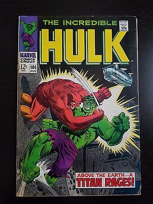 The Incredible Hulk #106 (Aug 1968, Marvel)