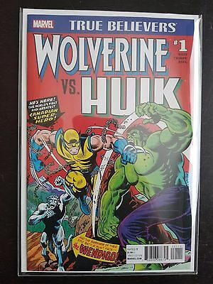 True Believers Wolverine vs. Hulk #1 Near Mint (April 2017, Marvel)