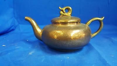 Antique Vintage Collectible Chinese Old Solid Brass Metal Coffee Tea Kettle