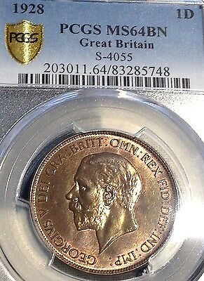 1928 Great Britain Penny PCGS MS64BN Beauty Price Reduced CHN!