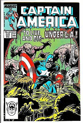 Captain America #329  Marvel Comic Book  fn to vf    Newsstand
