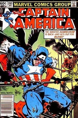 Captain America #280  Marvel Comic Book  fn to vf    Newsstand