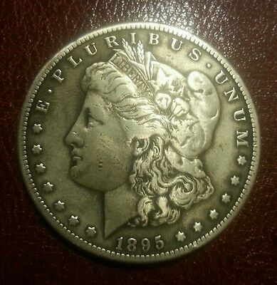1895-S Morgan Dollar Silver $1 VERY FINE.cleaned. (VF)+++ RARE KEY DATE