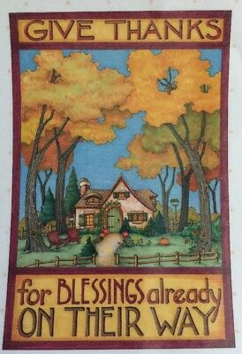 Handmade Fridge Magnet-Mary Engelbreit Artwork-Give Thanks