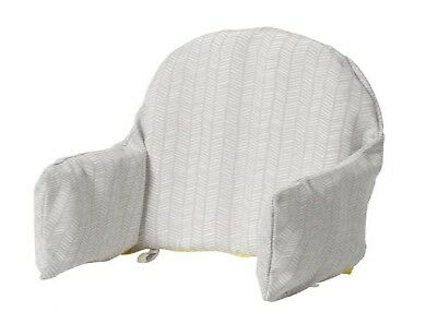 IKEA ANTILOP BABY HIGHCHAIR SUPPORTING CUSHION AND COVER KLAMMIG Grey/Yellow