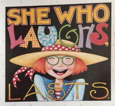 Handmade Fridge Magnet-Mary Engelbreit Artwork-She Who Laughs
