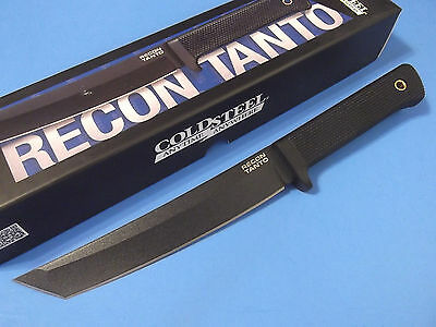 """COLD STEEL 49LRT Recon Tanto SK5 carbon fixed blade knife 11 3/4"""" overall NEW!"""