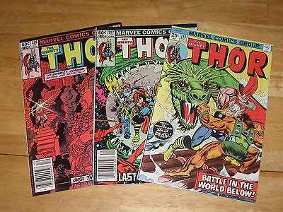 The Mighty Thor lot issues 326, 327, and 338 Marvel Comics