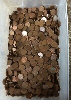 4000+ Canadian copper cents Elizabeth II 26.5lbs