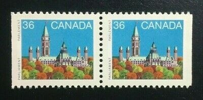 Canada #926Bcs RP MNH, Parliament Buildings Booklet Pair of Stamps 1987