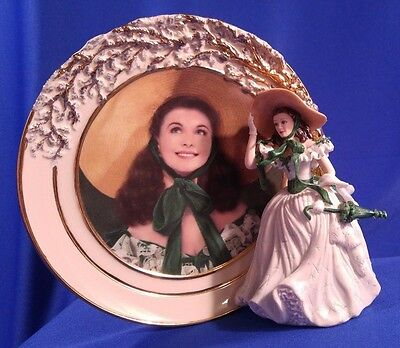 BELLE OF THE BARBECUE Reflections Scarlett Figure Plate Gone With Wind Bradford