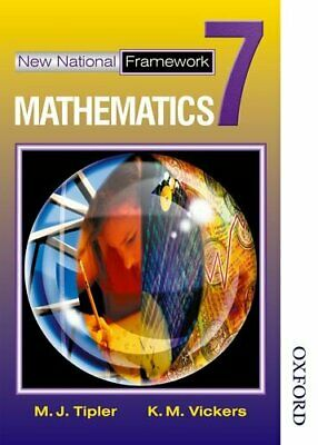 New National Framework Mathematics 7 Core Pupil's B... by Vickers, K M Paperback