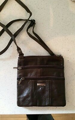 Leather shoulder cross body bag brand new