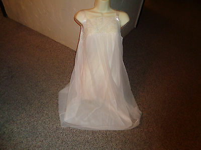 VTG 60's Chiffon Pink NIghtgown Great Condition PRECIOUS S