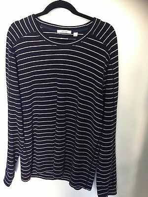 COUNTRY ROAD Navy Long Sleeve Top  L Chest 120cm