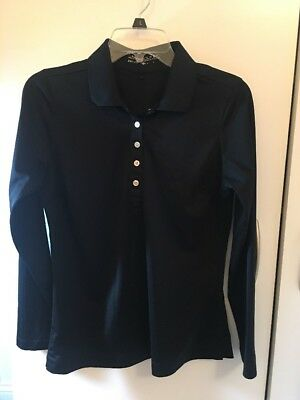 Nike Dri Fit Women's' Golf Long Sleeve Black Shirt Sz M EUC