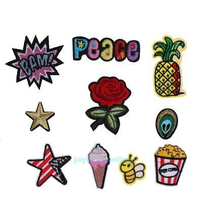 10pcs Mixed Applique Embroidery Patch Sticker Iron On Sew Cloth Patch DIY Craft