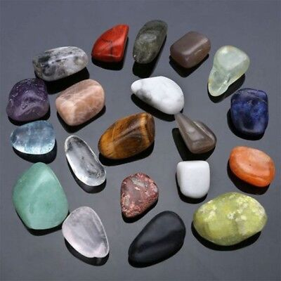 20pcs Natural Crystal Gemstone Polished Healing Chakra Stone Collection Display