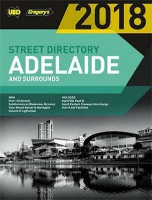 NEW Adelaide Street Directory 2018 By UBD Gregorys Paperback Free Shipping