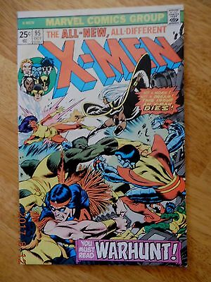 "X-Men #95 - ""Death"" Of Thunderbird - 3rd Appearance Of The New X-Men MARVEL"