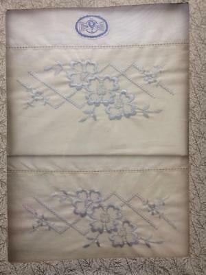 Vintage Royal Made Pillowcases--Embroidered--Unused in Box