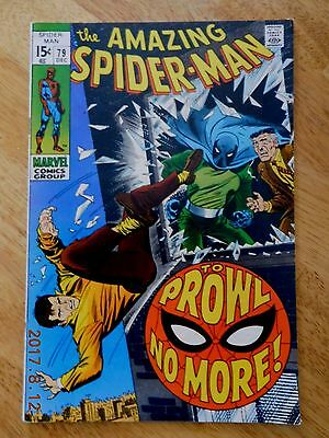 Amazing Spider-Man #79 (Dec 1969, Marvel) 2nd Appearance Prowler, Silver Age